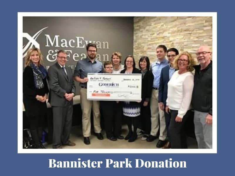 BANNISTER PARK DONATION w label